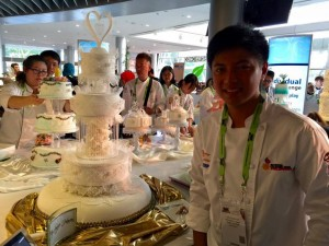 Wedding cake display by Mr. Jireh Rodriguez - HIGHEST GOLD AWARD