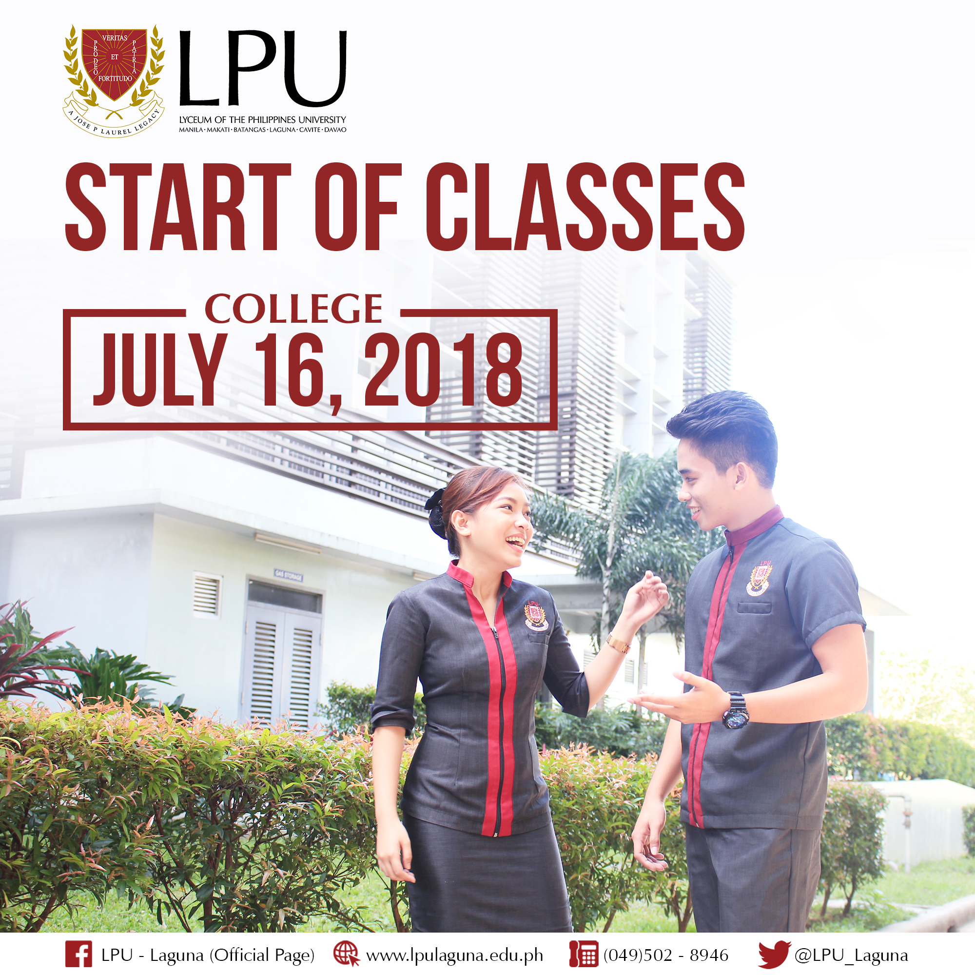 college start of classes for a y 2018 2019 lyceum of the
