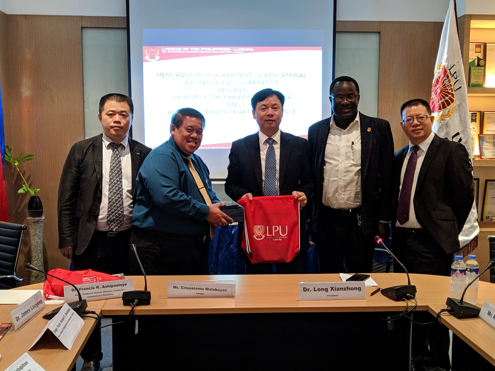 Hunan University of Arts and Science partners with LPU Laguna for Research, Faculty, and Student Exchange