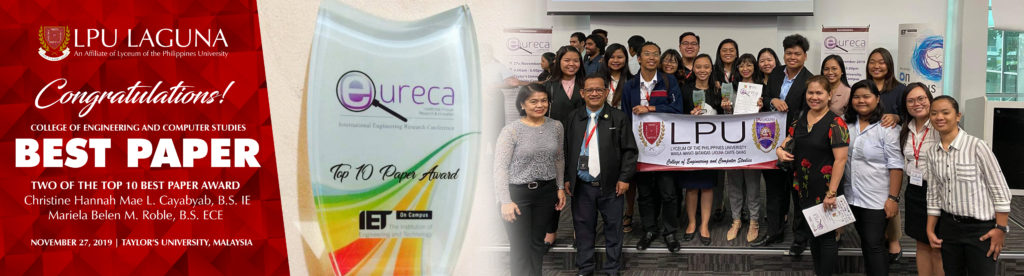 COECS wins 2 Best Paper Awards at the 14th Eureka International Conference at Taylor's University, Malaysia